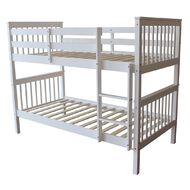Living & Co Pine Wood Bunk Bed White
